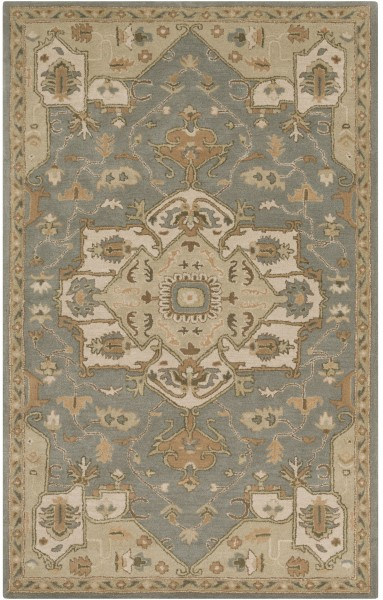Khaki, Medium Gray, Dark Brown, Camel Traditional / Oriental Area Rug