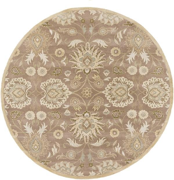 Cream, Camel, Sea Foam, Dark Green Traditional / Oriental Area Rug