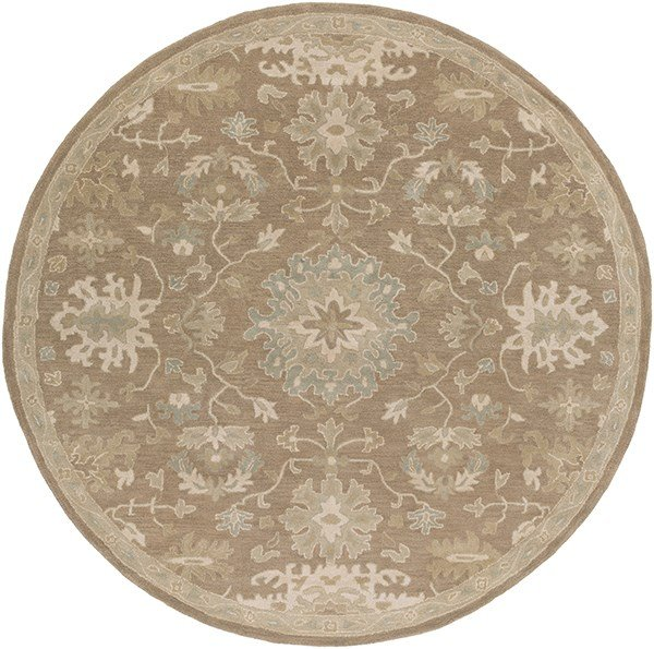Camel, Light Gray, Tan, Medium Gray Traditional / Oriental Area Rug