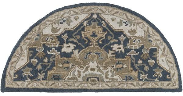 Navy, Khaki Traditional / Oriental Area Rug