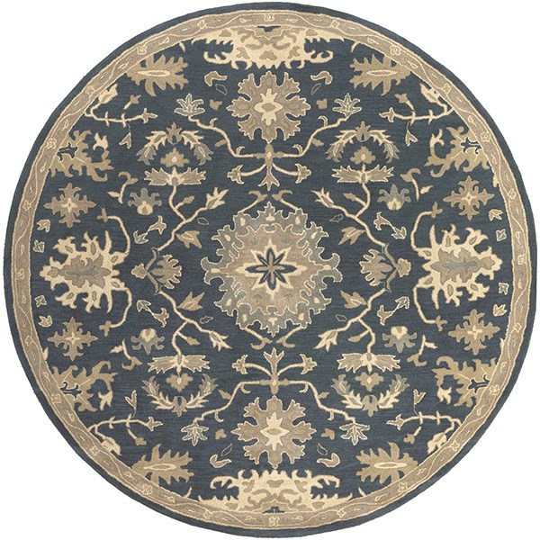 Navy, Tan, Teal, Beige, Olive Traditional / Oriental Area Rug