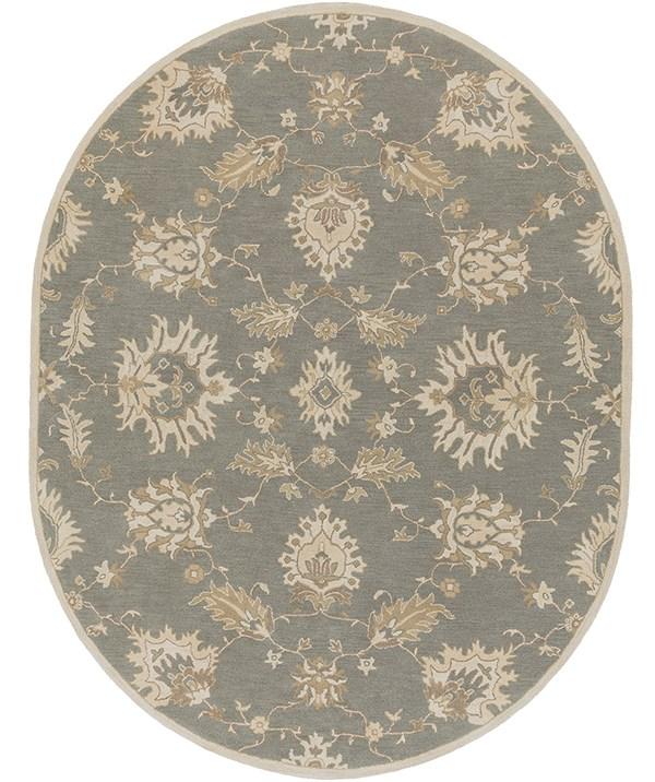 Medium Gray, Olive, Khaki Traditional / Oriental Area Rug