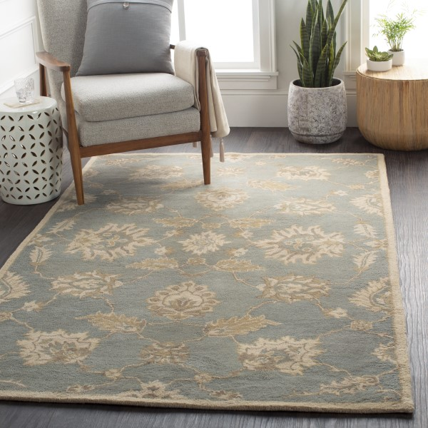 Medium Gray, Olive, Khaki Traditional / Oriental Area Rug