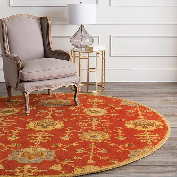 Rust, Camel, Olive, Tan Traditional / Oriental Area Rug