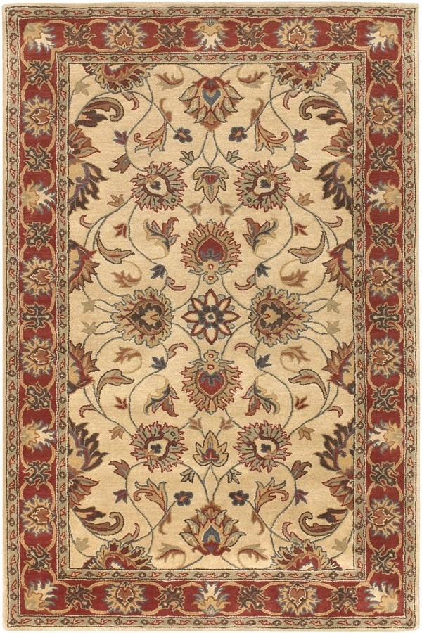 Camel, Burnt Orange, Rust, Olive Traditional / Oriental Area Rug