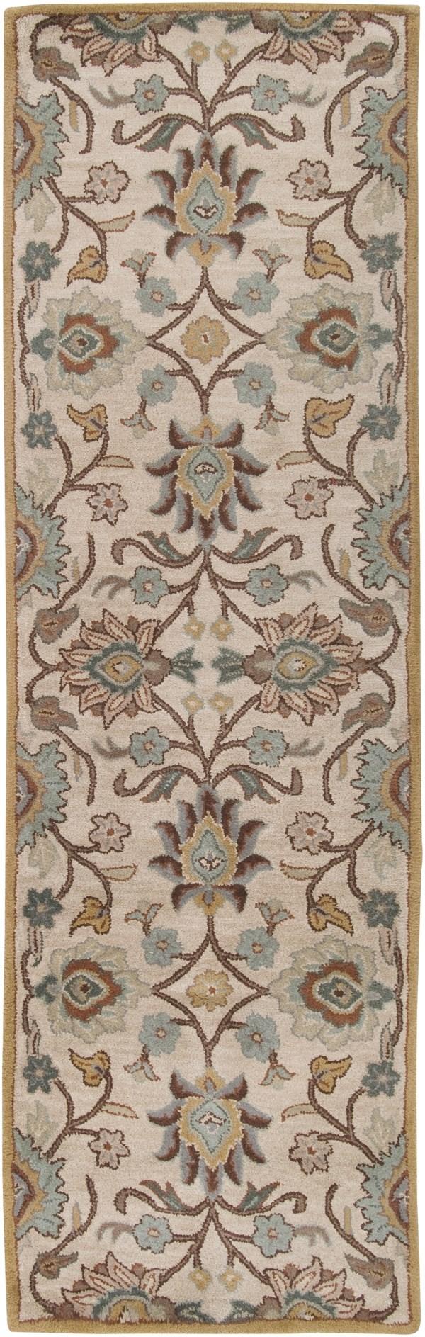 Medium Gray, Beige, Dark Brown, Charcoal Traditional / Oriental Area Rug