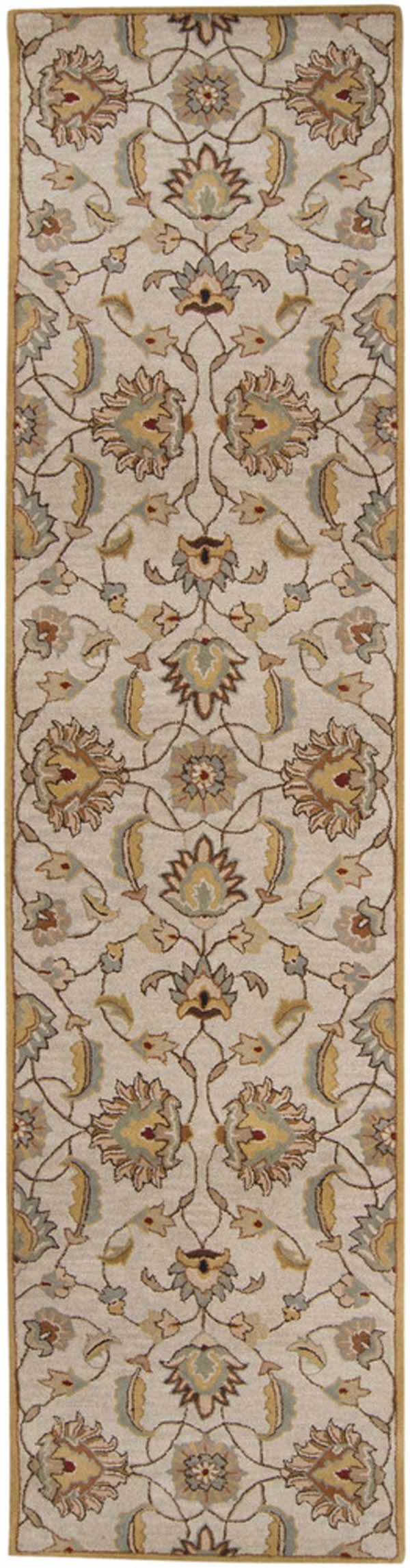 Blush, Camel, Taupe, Black, Teal Traditional / Oriental Area Rug