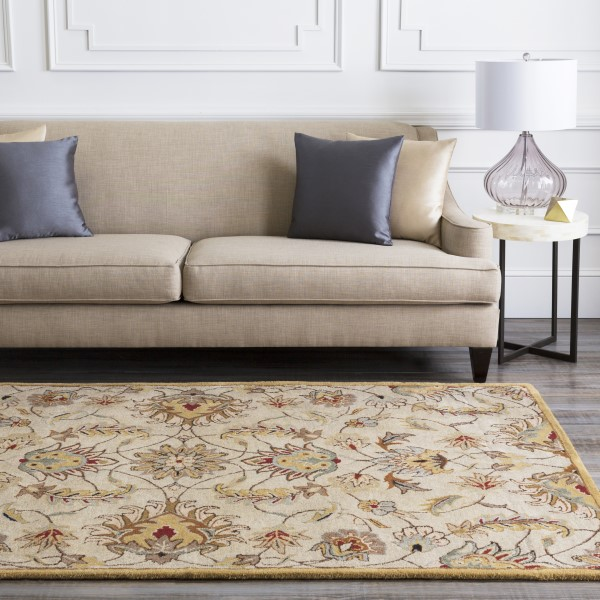 Blush, Camel, Taupe Traditional / Oriental Area Rug