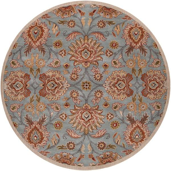 Medium Gray, Camel, Dark Green, Rust Traditional / Oriental Area Rug