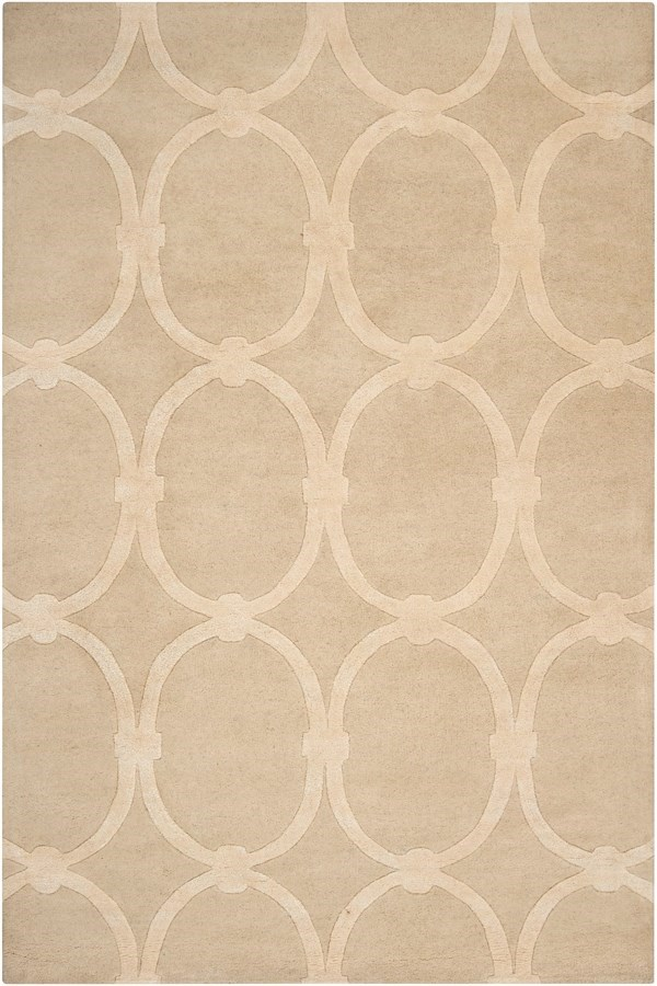 Taupe Beige Transitional Area Rug