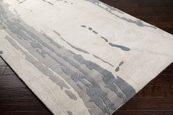 Oyster Gray, Gray, Taupe Contemporary / Modern Area Rug