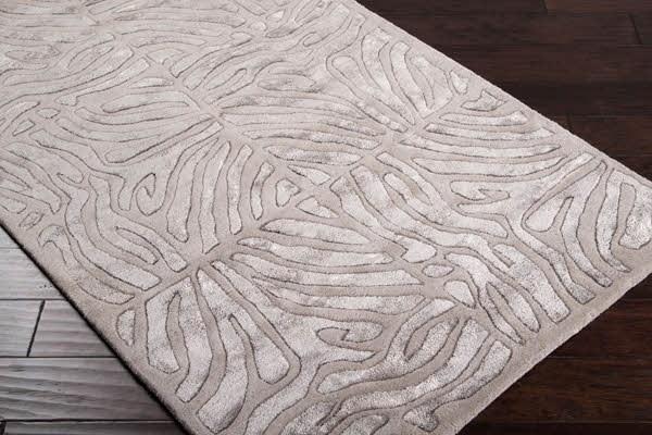 Taupe, Mushroom Animals / Animal Skins Area Rug