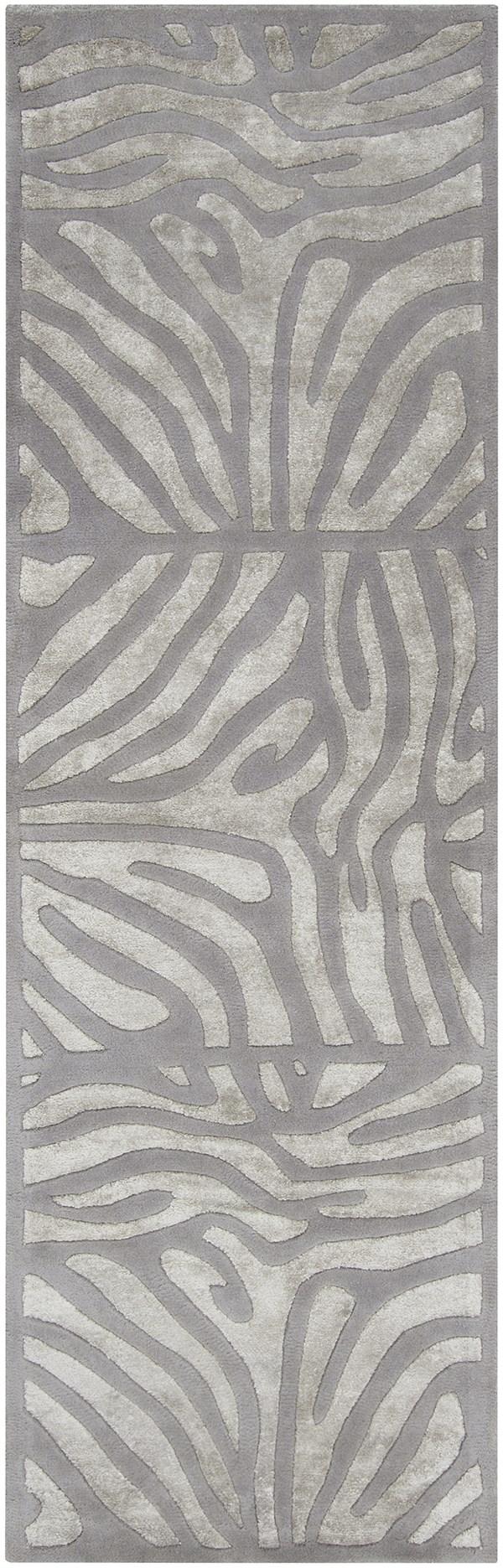 Slate, Gray Blue Contemporary / Modern Area Rug