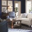 Product Image of Dark Blue, Light Grey Contemporary / Modern Area Rug