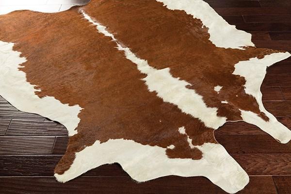 Brown, White Southwestern / Lodge Area Rug