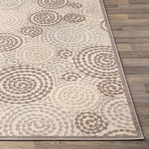 Beige, Butter, Taupe Contemporary / Modern Area Rug