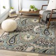 Product Image of Beige, Medium Grey, Teal, Lime, Navy Paisley Area Rug