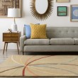 Product Image of Mocha, Burgundy Contemporary / Modern Area Rug