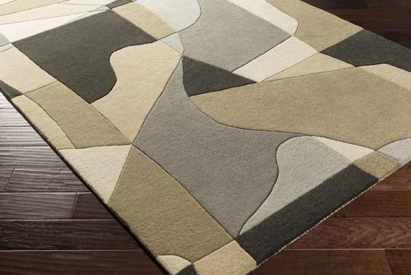 Medium Gray, Beige, Black, Khaki, Light Gray Contemporary / Modern Area Rug