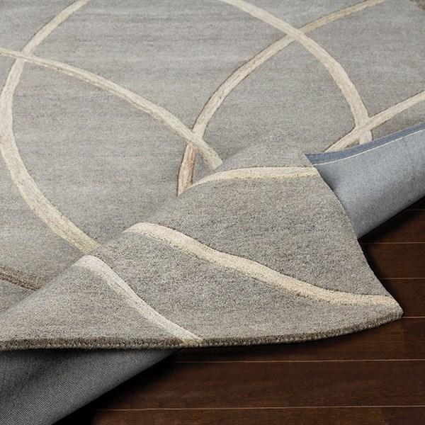 Grey, Cream, Camel Contemporary / Modern Area Rug