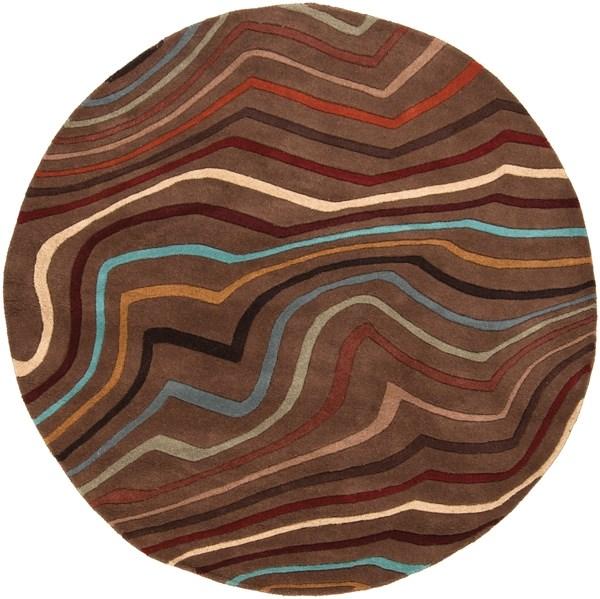 Coffee Bean, Golden Brown, Russet Contemporary / Modern Area Rug