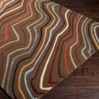 Product Image of Coffee Bean, Golden Brown, Russet Contemporary / Modern Area Rug