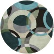 Product Image of Black Olive, Teal Green, Dove Gray Contemporary / Modern Area Rug
