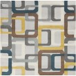 Product Image of Flint Gray, Teal Blue, Gold Contemporary / Modern Area Rug