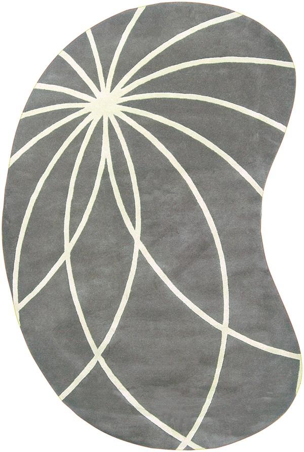 Iron Ore, Antique White Contemporary / Modern Area Rug