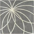 Product Image of Iron Ore, Antique White Contemporary / Modern Area Rug