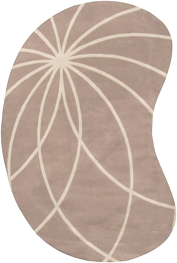 Safari Tan, Antique White Contemporary / Modern Area Rug
