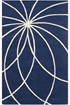 Product Image of Dark Blue, Antique White Contemporary / Modern Area Rug