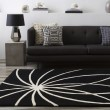 Product Image of Black, Ivory Contemporary / Modern Area Rug