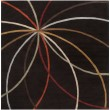 Product Image of Chocolate, Gold Contemporary / Modern Area Rug