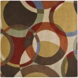 Product Image of Chocolate, Gold, Red Geometric Area Rug
