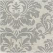 Product Image of Cream, Medium Gray Damask Area Rug
