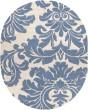 Product Image of Cream, Denim Damask Area Rug