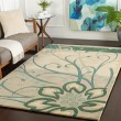Product Image of Green, Teal, Cream Floral / Botanical Area Rug