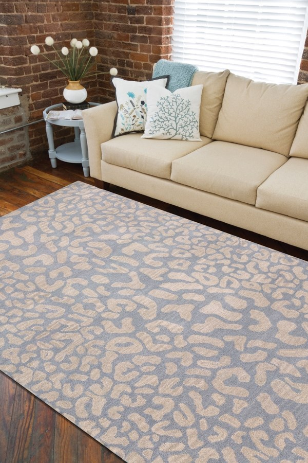 Medium Gray, Taupe Contemporary / Modern Area Rug