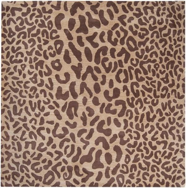 Dark Brown, Camel Contemporary / Modern Area Rug