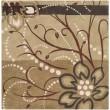 Product Image of Camel, Khaki, Tan, Dark Brown Floral / Botanical Area Rug