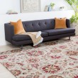 Product Image of Tan, Dark Red, Olive, Light Gray, Dark Brown Floral / Botanical Area Rug