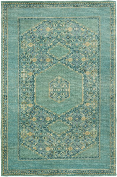 Teal, Emerald, Olive, Dark Green Traditional / Oriental Area Rug