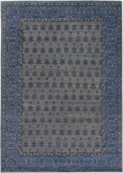 Black, Dark Blue, Dark Green Traditional / Oriental Area Rug