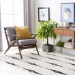 Product Image of Ivory, Beige, Black, White Contemporary / Modern Area Rug
