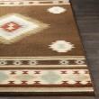 Product Image of Dark Brown, Red, Sage Southwestern / Lodge Area Rug