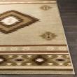 Product Image of Khaki, Sage, Dark Brown Southwestern / Lodge Area Rug