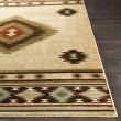 Product Image of Khaki, Dark Brown, Red Southwestern / Lodge Area Rug