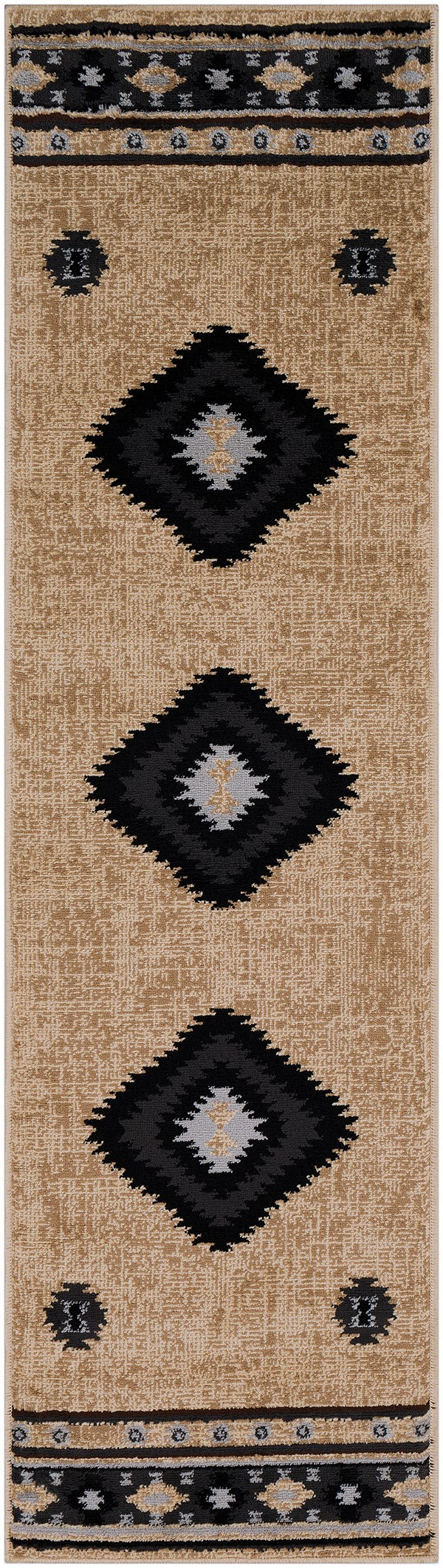 Black, Charcoal, Medium Gray  Southwestern / Lodge Area Rug