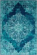 Product Image of Teal, Dark Blue, Aqua Vintage / Overdyed Area Rug